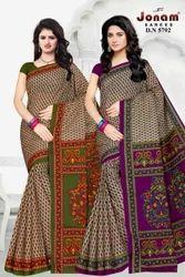 Pure Cotton Casual Wear Printed Saree