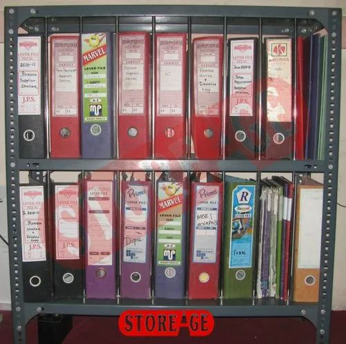 Gray Mild Steel File Racks Cabinet For Home Office Capacity