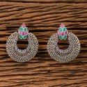 Antique Chand Earring With Matte Rhodium Plating 202095
