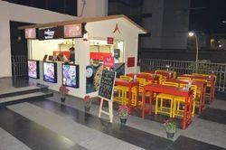 OZECA Free Standing Unit Food Kiosk, Warranty: 1 Year