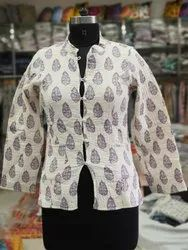 Cotton Ladies Quilted Jacket