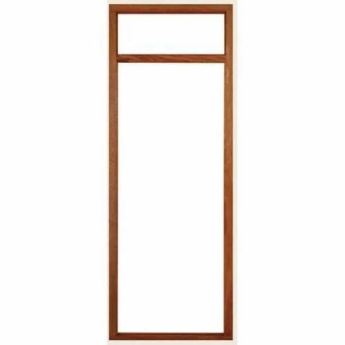 Brown Wooden Door Frame, Rs 2200 /piece, Ashirwad Timbers | ID ...