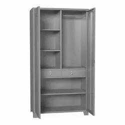 Double Door Grey Iron Storage Cupboard, Size: 4- 6feet