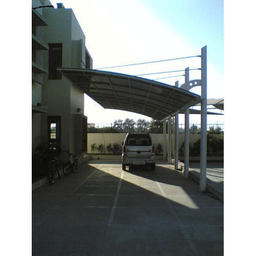 Stainless Steel Fiber Car Parking Shed Rs 250 Square Feet Bharat