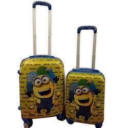 Poly Carbonate Printed Luggage Trolley Bag Set