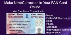 1-2 Days Offline Pan Card New/Corrections Online