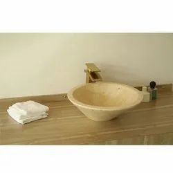 Stone Capstona Larix Marble Wash Basin, For Bathroom