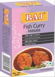 Raj Masale Fish Curry Masala, Packaging Size: 50 g, Packaging Type: Box