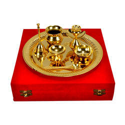 Gold Plated Pooja Thali