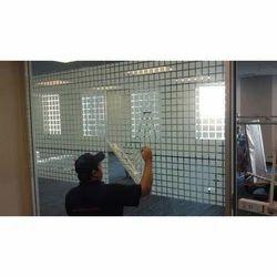 Translucent White Designer Glass Film, Packaging Type: Rolls