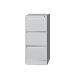 Iron Three Drawer Filing Cabinet, Dimensions: 1100 x 450 x 675 mm