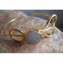 Handmade Gold Plated Druzy Gemstone Bangles
