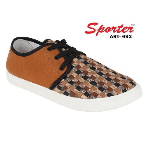 4ec1bca7bf440 Sporter Men/boys Brown 693 Printed Canvas Shoes