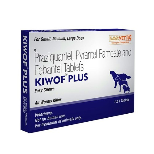 Kiwof Plus(Praziquantel) Tablets for Dogs - Vea Impex, Mumbai | ID
