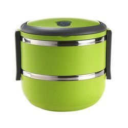 2 Layer Lunch Box Green