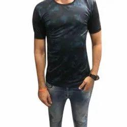 M-XXL Round Mens Printed Collar T Shirt