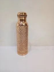 Polished Wandcraft Exports Dotted Bubble Pine Design Copper Water Bottle