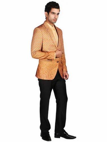 691a5aa0a Men Orange Printed Coat