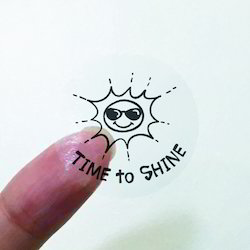 Transparent Foil Sticker