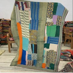 Cotton Indian Vintage Kantha Quilt