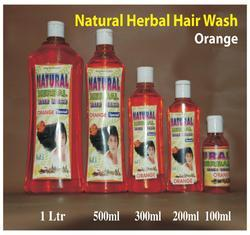 Natural Herbal Hair Wash Shampoo (Orange)