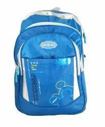 Plastic Zip Blue School Bag