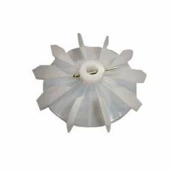White Plastic Motor Cooling Fan Blade