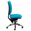 Armless Executive Blue Chair
