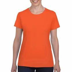 Round Neck Orange T-Shirt
