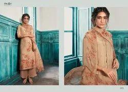 Silk Jacquard Unstitched Salwar suits