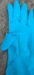 Blue Plain Washable Cotton Golves, Size: Free Size