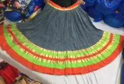 Indian Rajwadi Skirt - Party Wear High Flare - Designer Ghagra