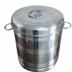Silver Steel Container, Capacity: 1-10 Ton