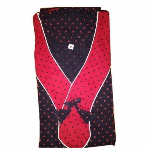 Stitched Cotton Ladies Trendy Nightgown