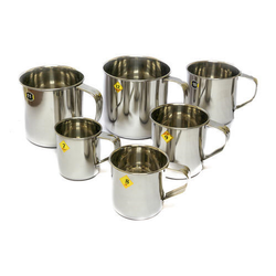 Liberty Stainless Steel Mug, Capacity: Assorted, for Home / Hotel / Restaurant