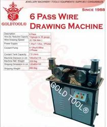 Gold Tool 6 Pass Wire Drawing Machine