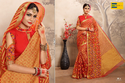 Red And Golden Printed Earth Women Saree