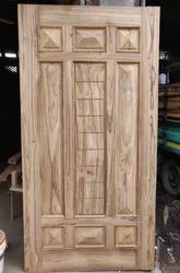 Exterior Hinged Sagwan Teak Wood Door
