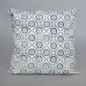 Star Shape Print with Grey And White 100% Cotton Decorative Cushion Cover