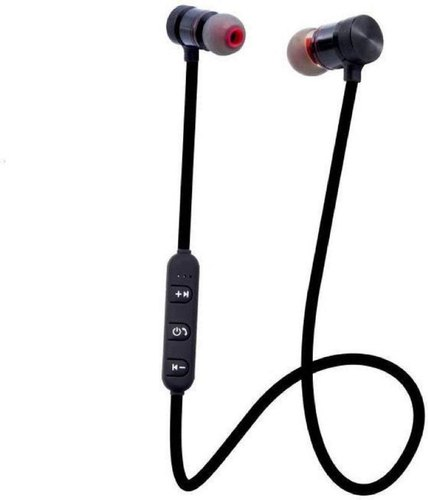 Black/ Red Jineshwar Sports Bluetooth Earphone