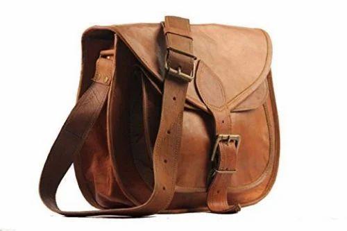 Brown Shoulder Handbag Women Handmade Vintage Genuine Leather Travel Tote  Purse Handbag Cross Body Bag 665ffc36b3df8