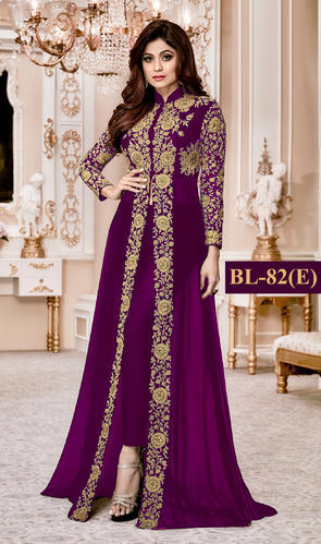 8ad714eb4 Georgette Embroidered Style Designer Anarkali Salwar Suit