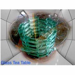 Round Glass Tea Table