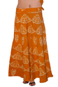 Girls Batik Printed Wrap Skirt