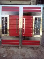 Center Opening Stainless Steel Security Doors