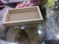 wood Dry Fruit Tray, Shape: Rectangle, Size: 7x9