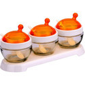 Orange Elegant Glass Bowl Set