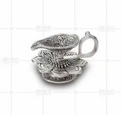 Silver Plated Kamal Diya