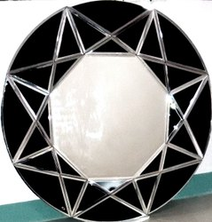 SKGM Silver 24inch Round Glass Mirror, Thickness: 5 Mm