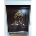 Buddha Printed Wooden Blinds